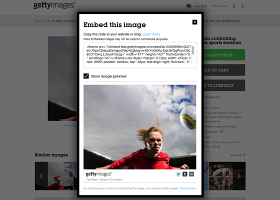 200,000,000 Getty images now available to embed for no cost