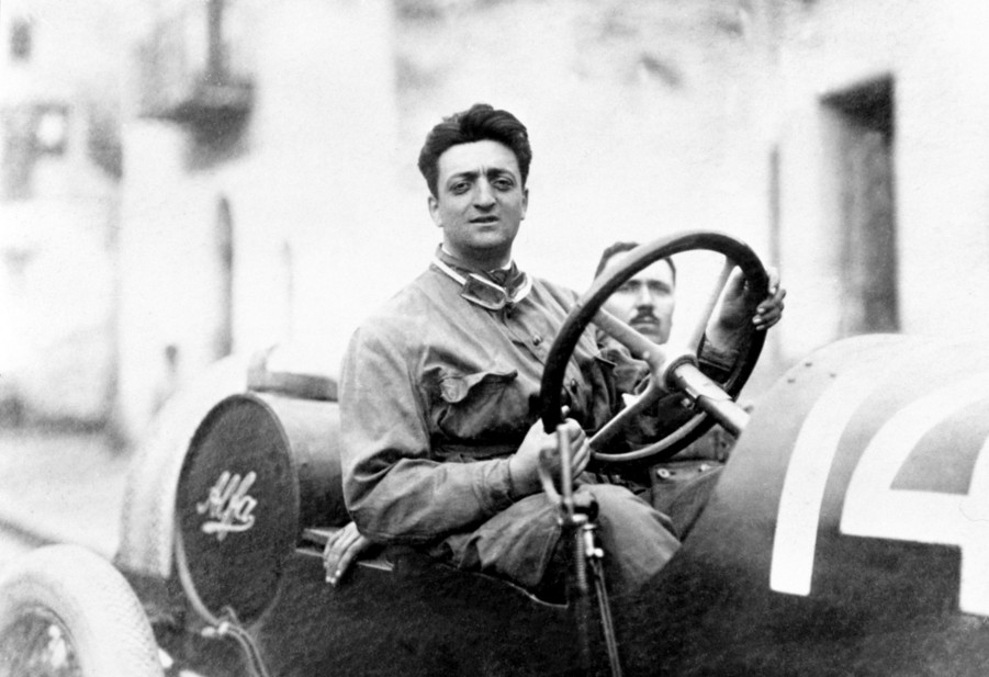Enzo Ferrari at 24 years old