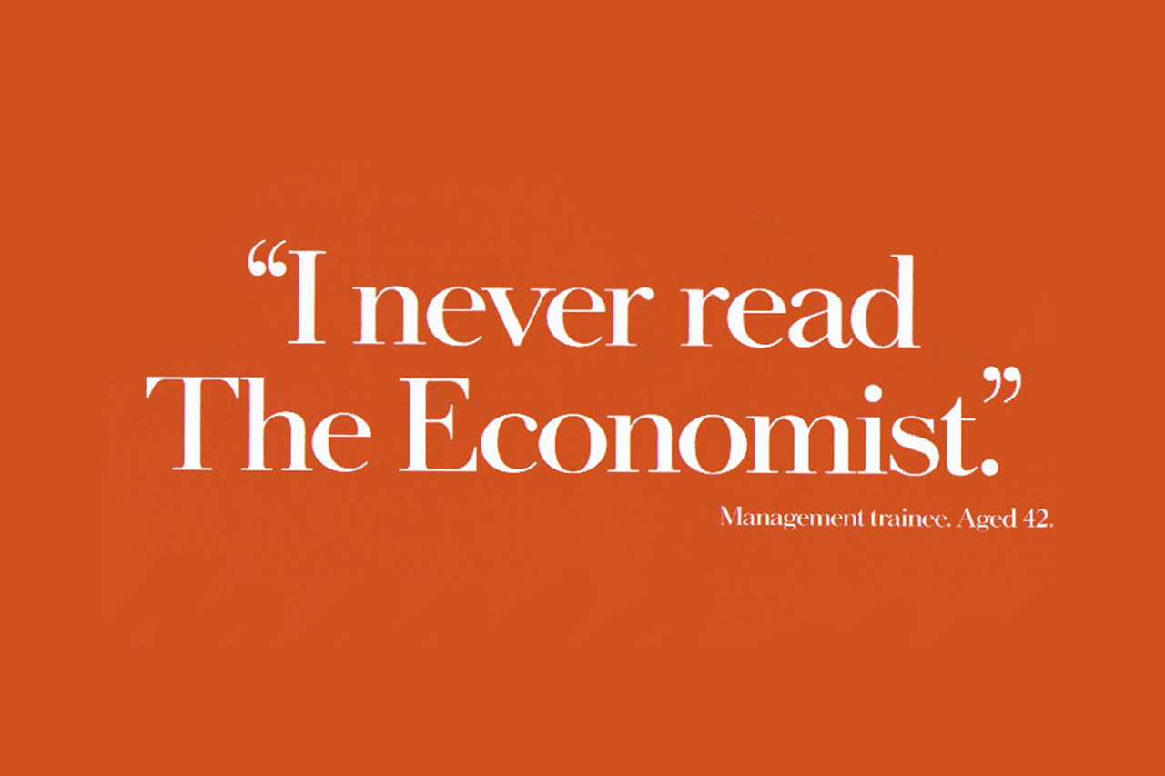 David Abbott's  iconic 1984 campaign for    The     Economist.