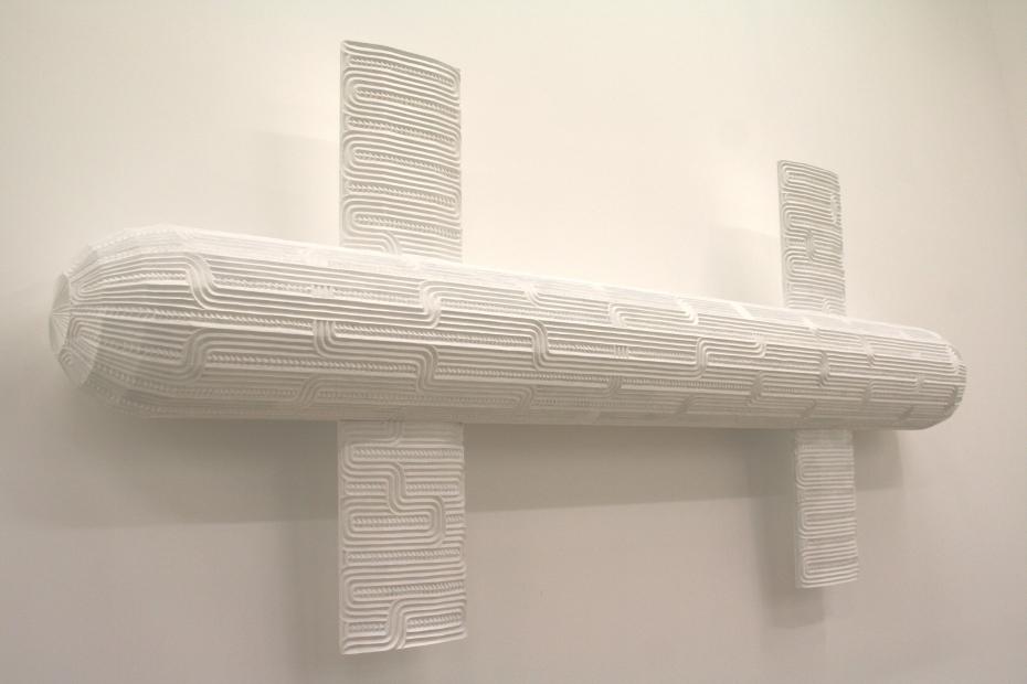 Brett Graham, Rukuhia III (2011).Carved and painted MDF,232cm x 102cm x 28cm.