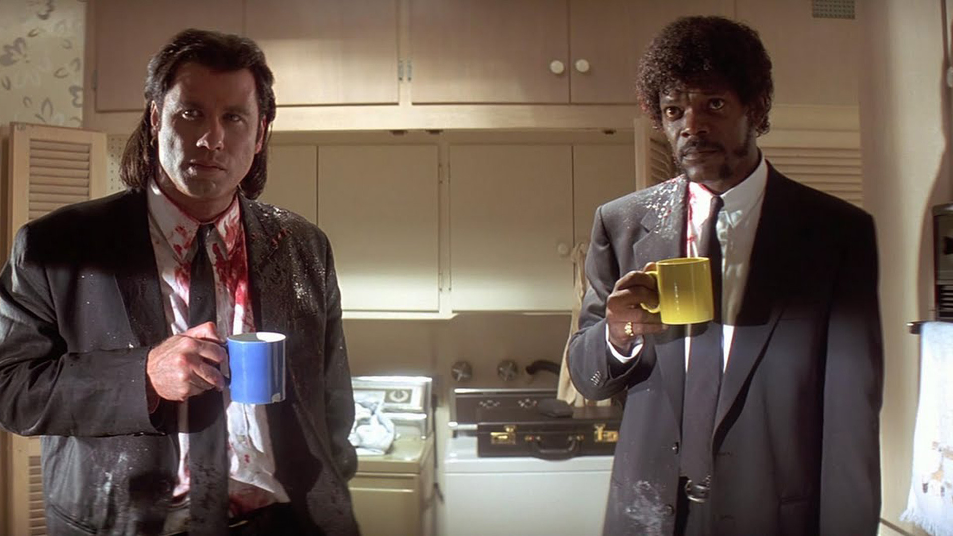John Travolta and Samuel L Jackson rose to fame as   Vincent Vega and   Jules Winnfield, well scripted urban thugs in Tarantino's Pulp Fiction.
