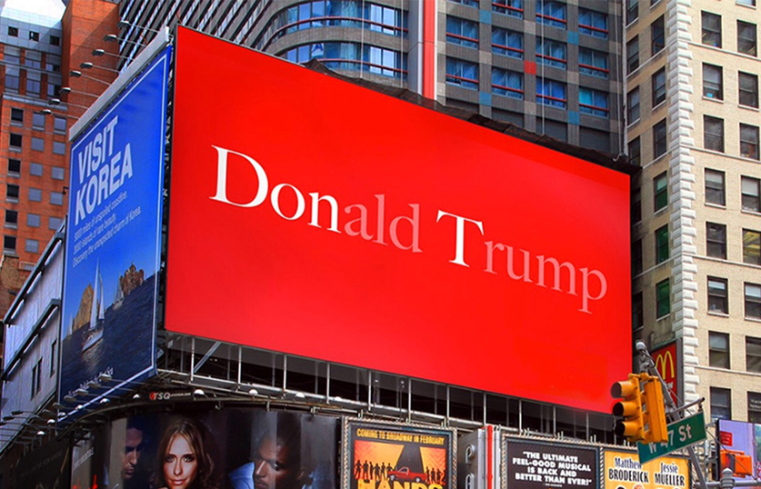 Imagine the sales hike for The Economist when this went up in Times Square. A brilliant example of the designer and writer duo, it is a powerful statement devoid of photography.