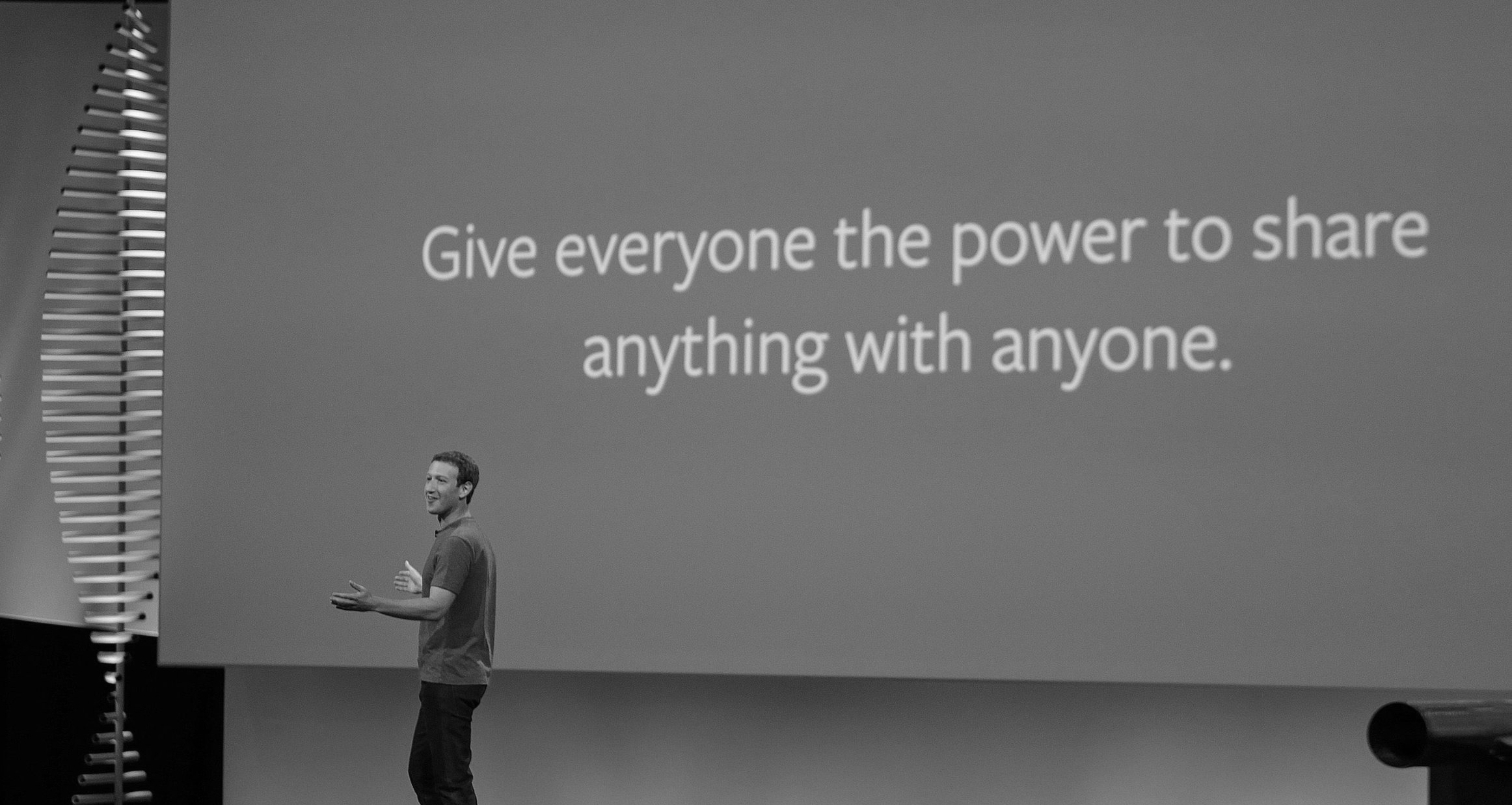 Zuckerberg's mantra assumes everything is up for grabs without permission. Photo by Eric Risberg (AP).
