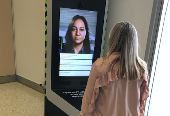 New Zealand's Auckland Airport is testing the use of an onscreen avatar to answer biosecurity questions from travellers in a bid to reduce the workload of airport officials