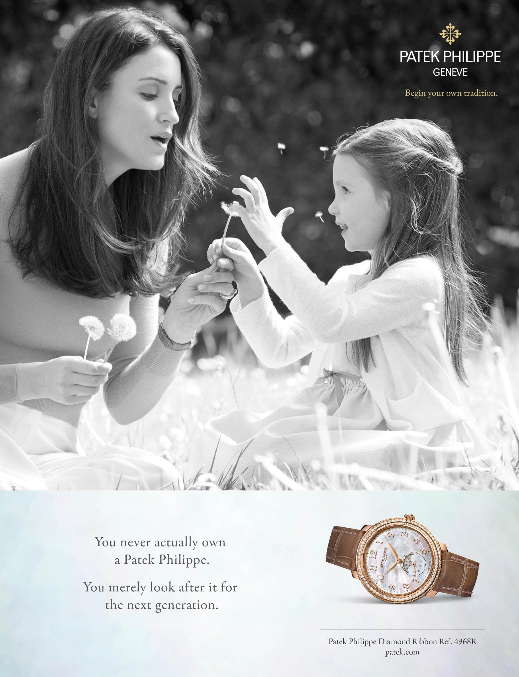 Patek's timeless storytelling of intergenerational ownership captures the moment within families so well.