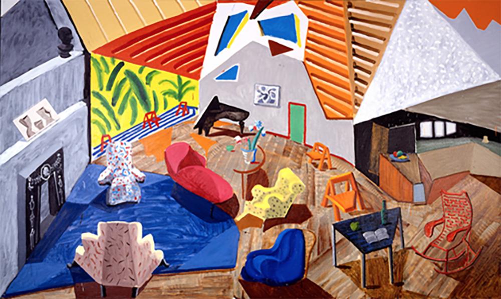 Large Interiors by David Hockney