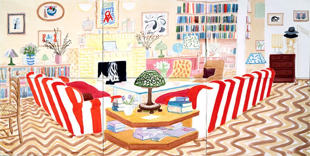 Interior With Lamp by David Hockney