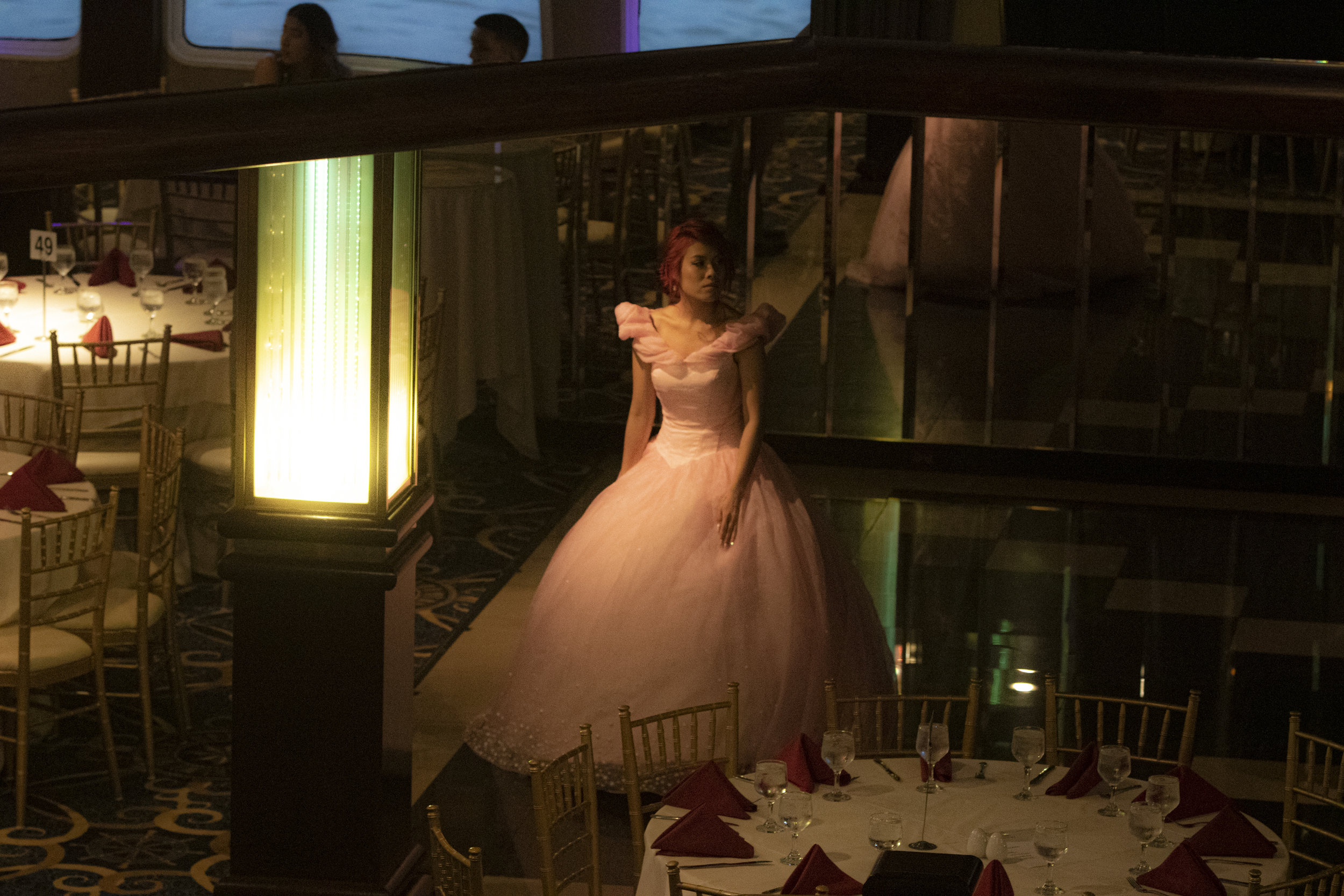 Taren Quang takes a moment alone at Curtis Prom in Hoboken, N.J. on Saturday, June 15, 2019.