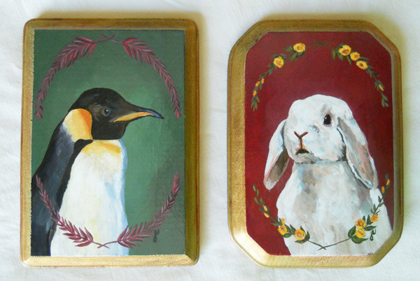king penguin  and  holland lop