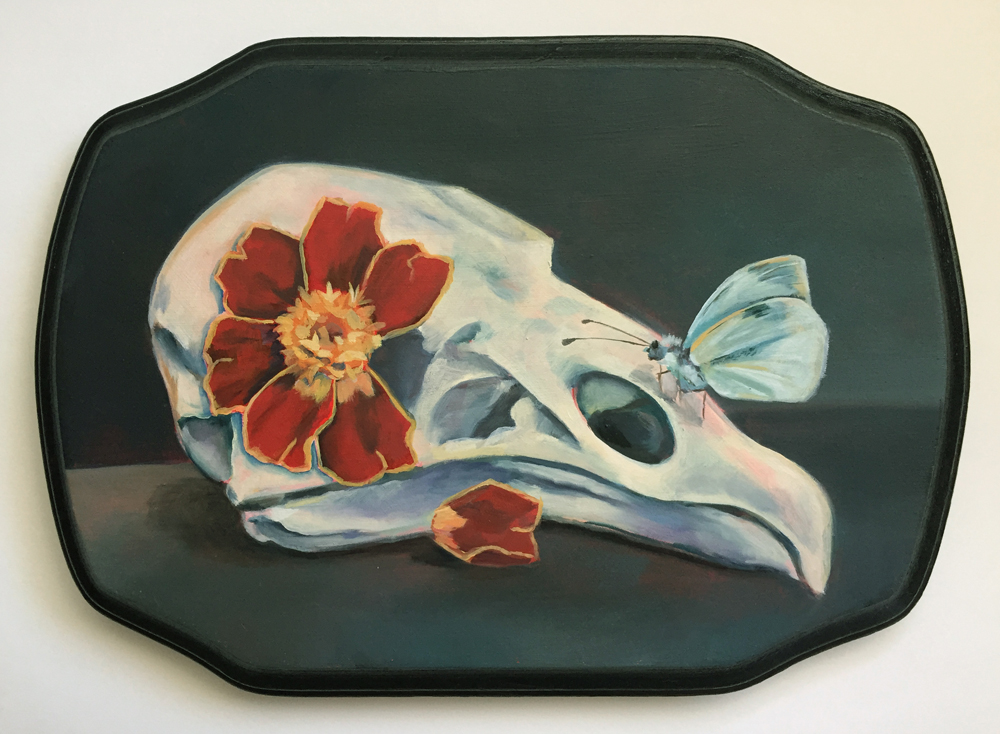 """remembrance no. 1   9.25"""" x 6.5"""" oil on wood"""
