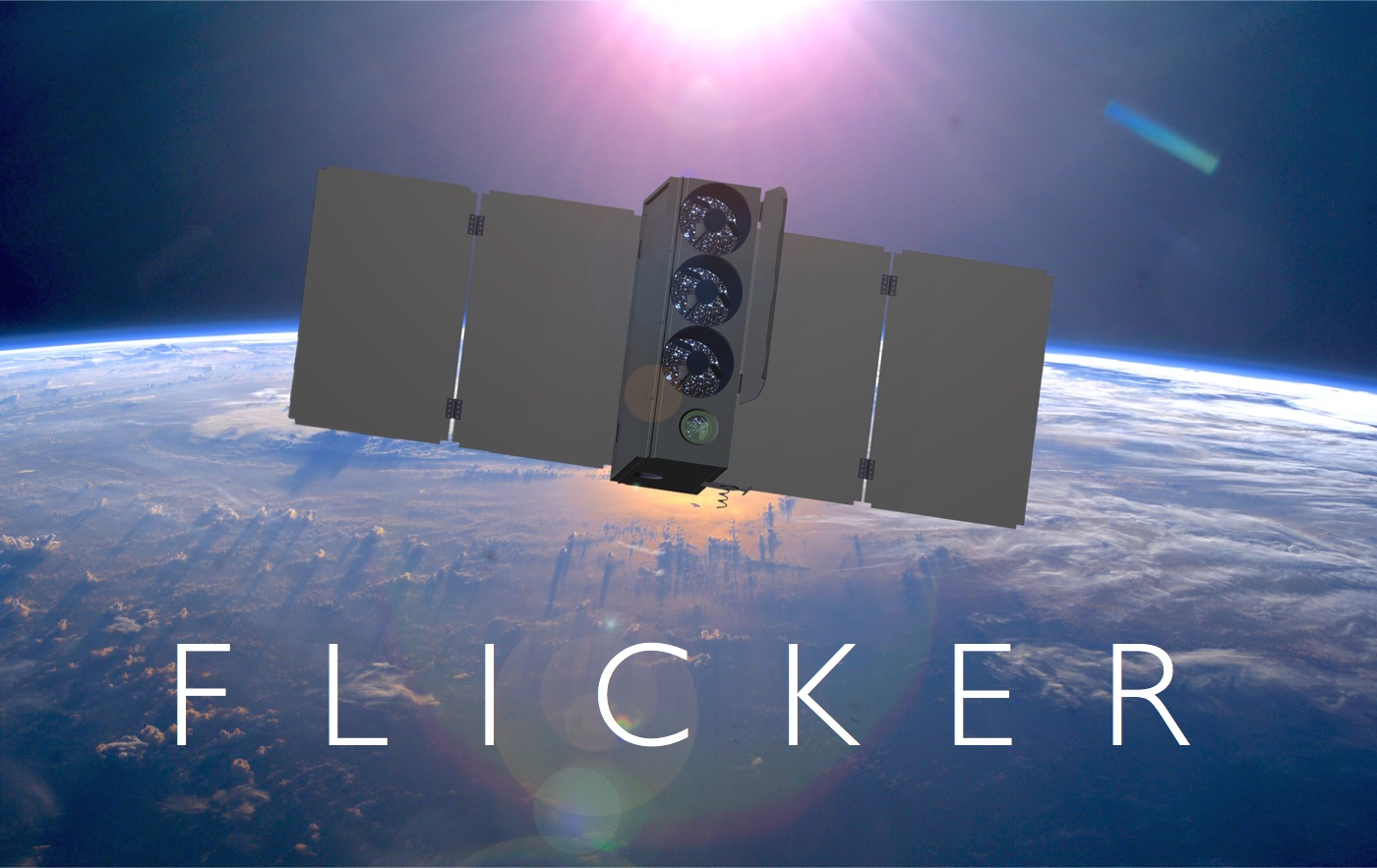The Flicker spacecraft in Earth orbit. If flown, Flicker will be the first dedicated space-based occultation observatory.