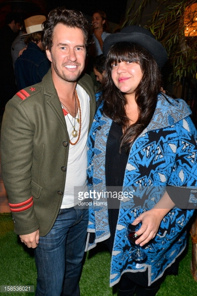 DJ Ana Calderon & TOMS CEO Blake Mycoskie attend TOMS Opening Of Official Flagship Store On Venice's Abbot Kinney Blvd