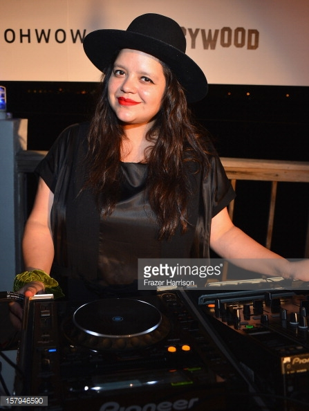 Ana Calderon DJing Terrywood Even at Art Basel