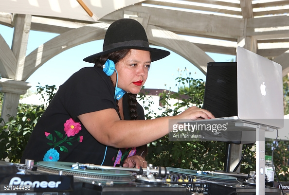 ANA CALDERON DJING THE REVOLVE COACHELLA 2016 PARTY
