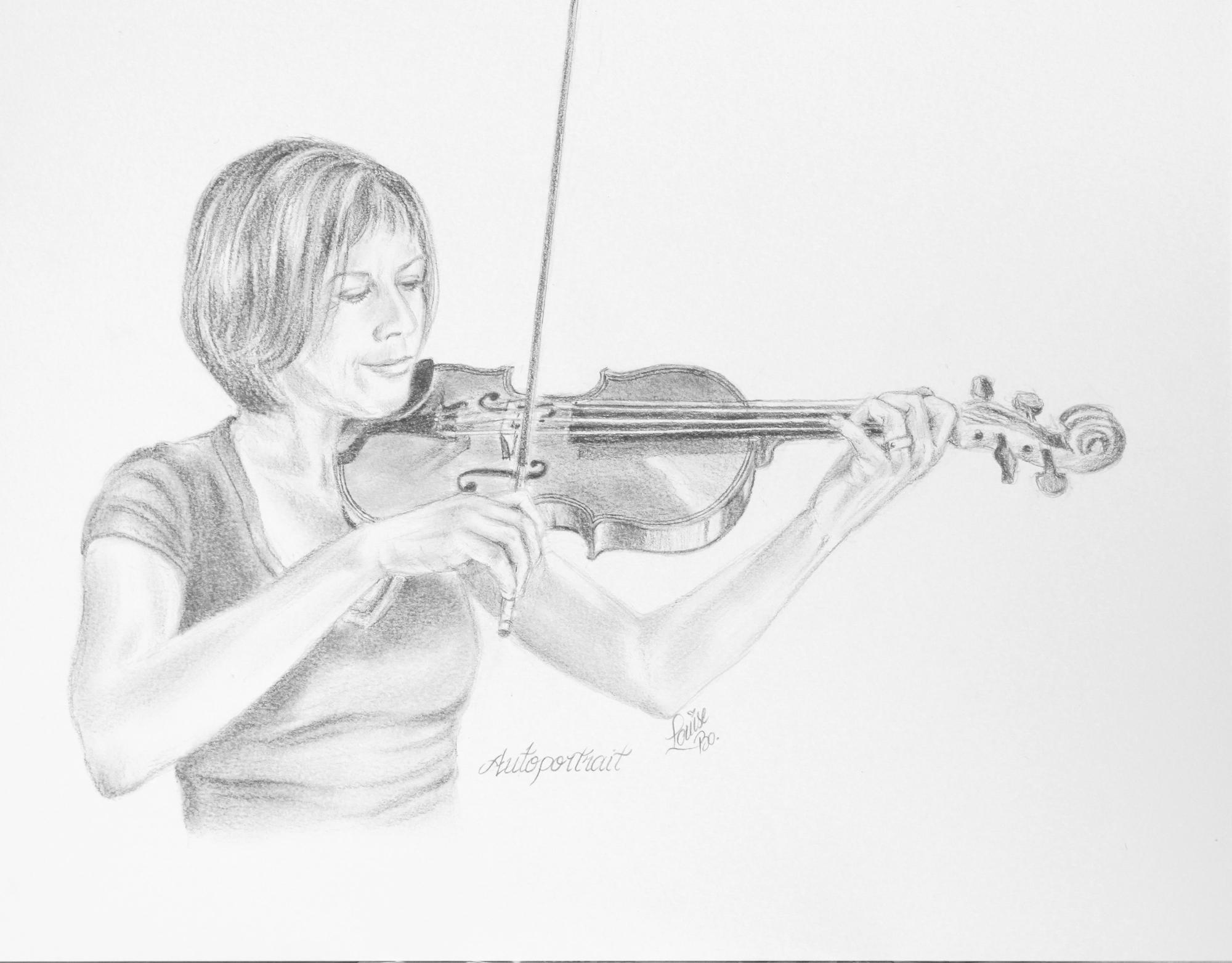 Autoportrait au graphite