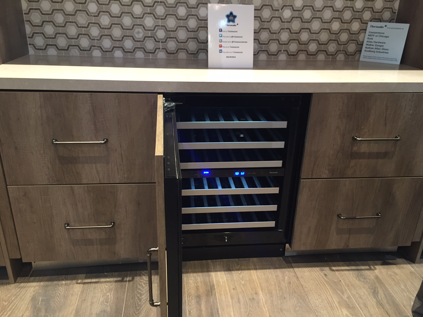 Thermador wine space, KBIS 2016