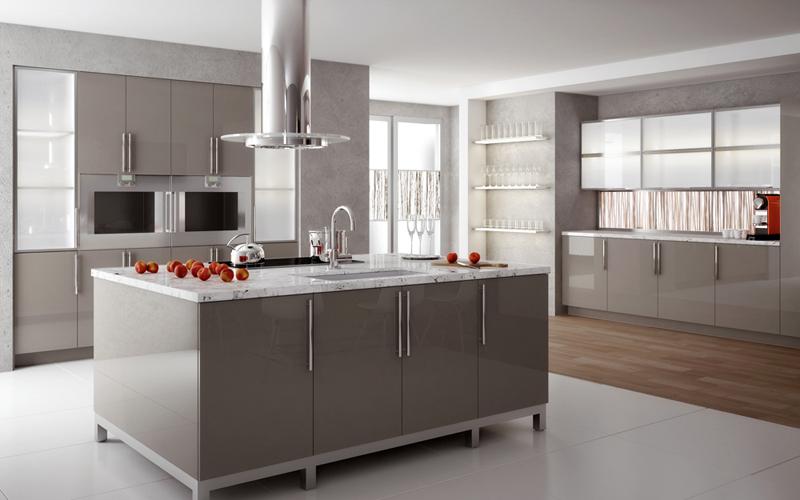 High gloss doors, aluminum frame doors, sliding hardware (Element Design)