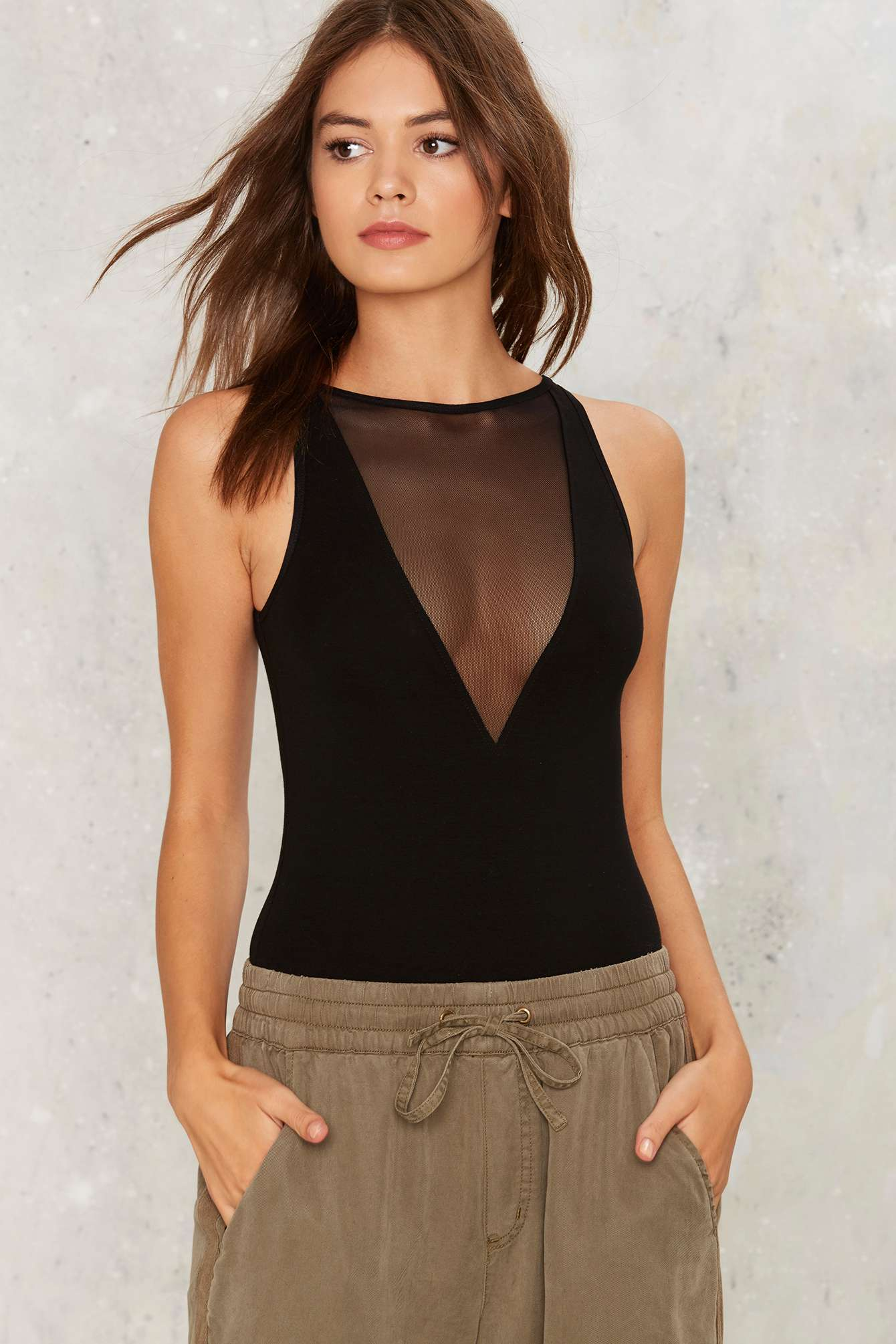 Nasty Gal Insert Dreams Here Mesh Bodysuit