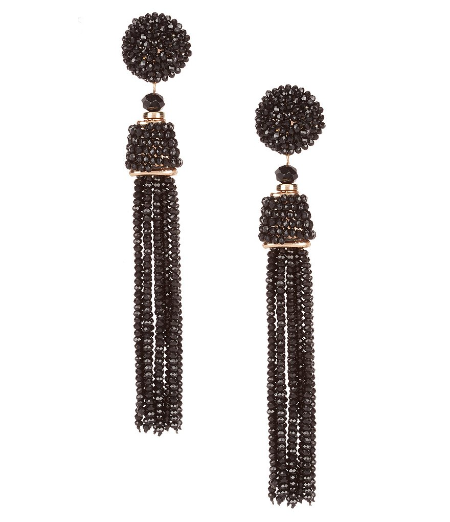 Dillard's Natasha Accessories Tassel Drop Statement Earrings