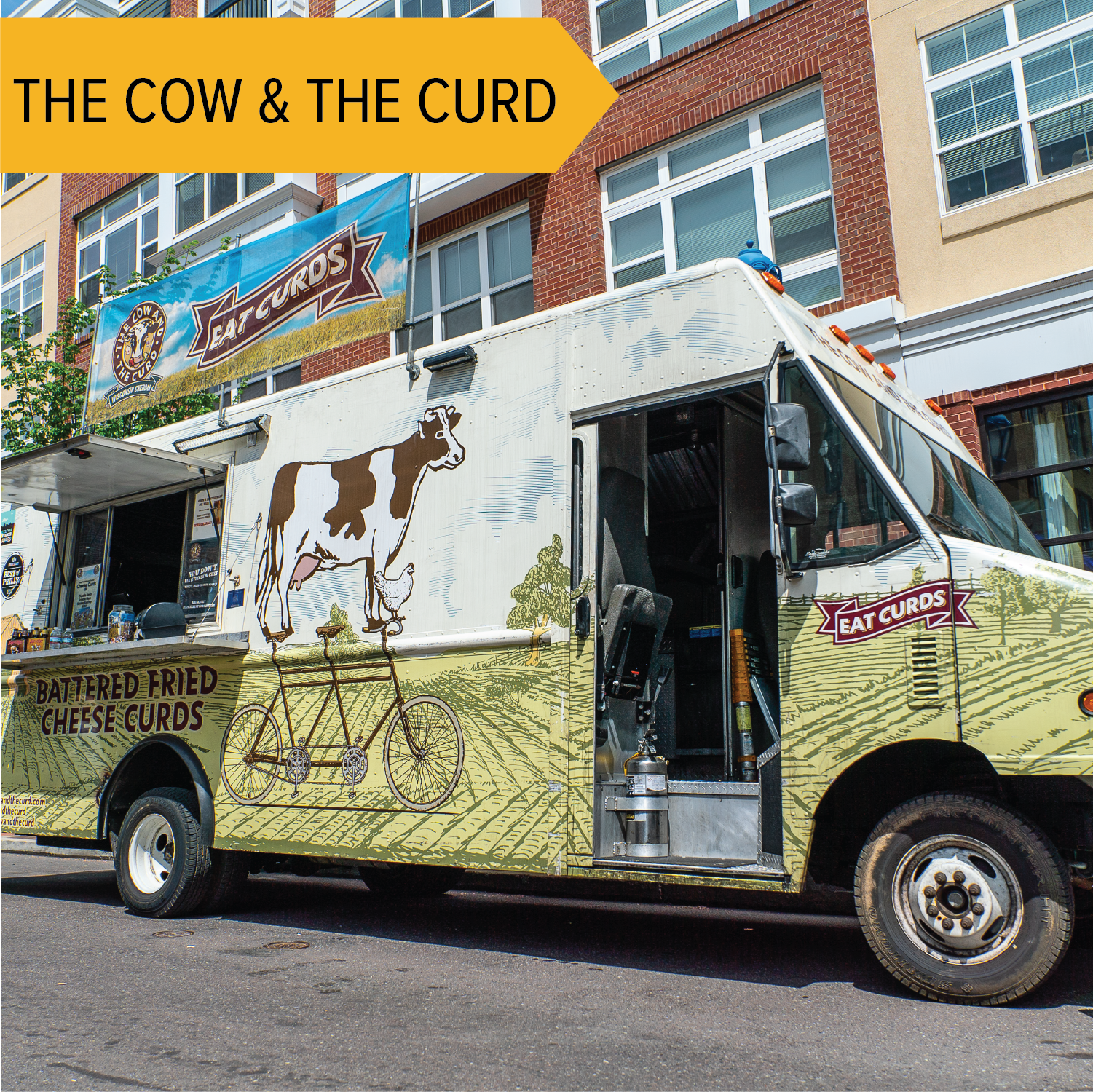 The Cow and the Curd   Cheesy Goodness! The Cow and the Curd will return for another year with their deep-fried cheese curds!
