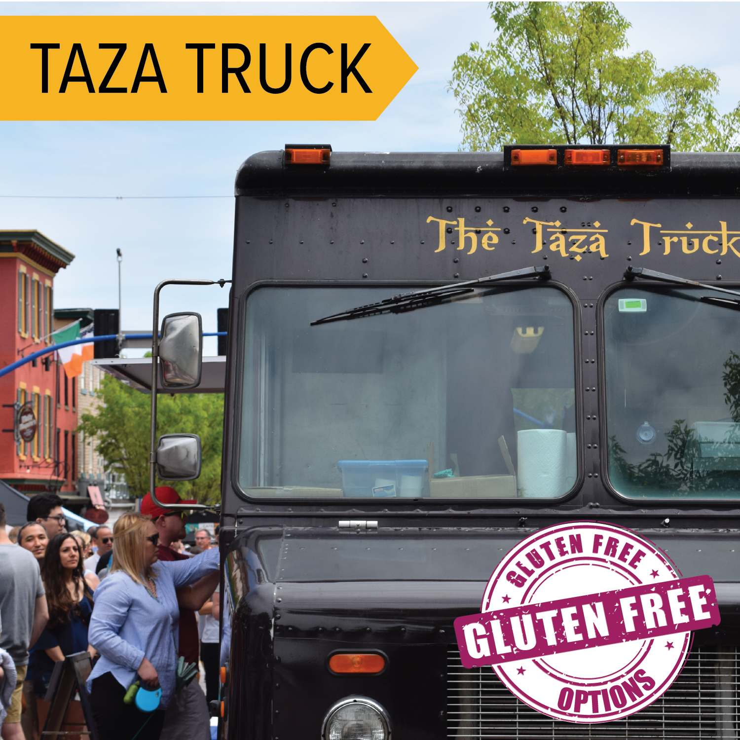 The Taza Truck   Enjoy some Egyptian cuisine on the go! Offering items like hummus, rice bowls, and fresh pita wraps!