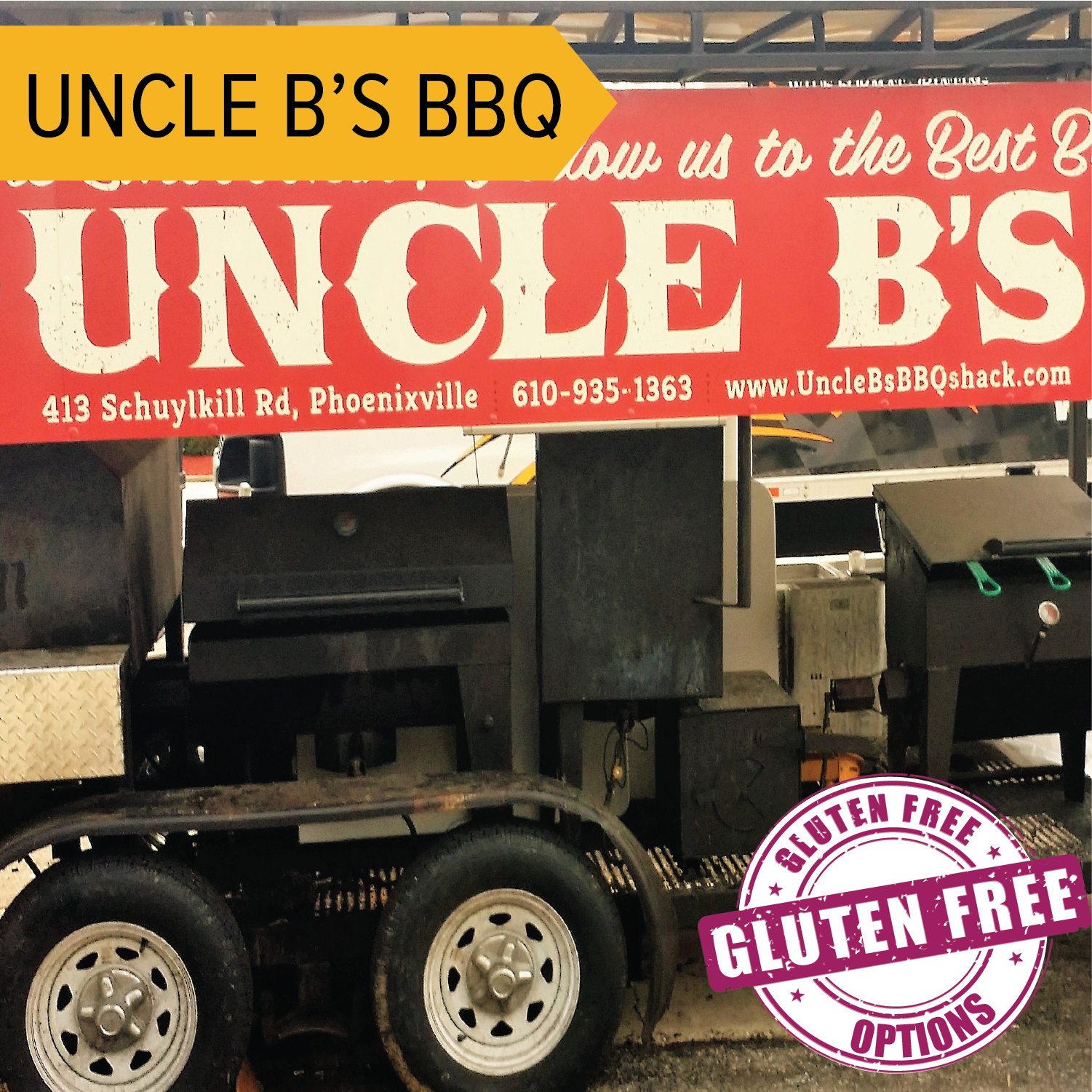 Uncle Bs   A local favorite back again! Pulled pork, chicken, and brisket served fresh!