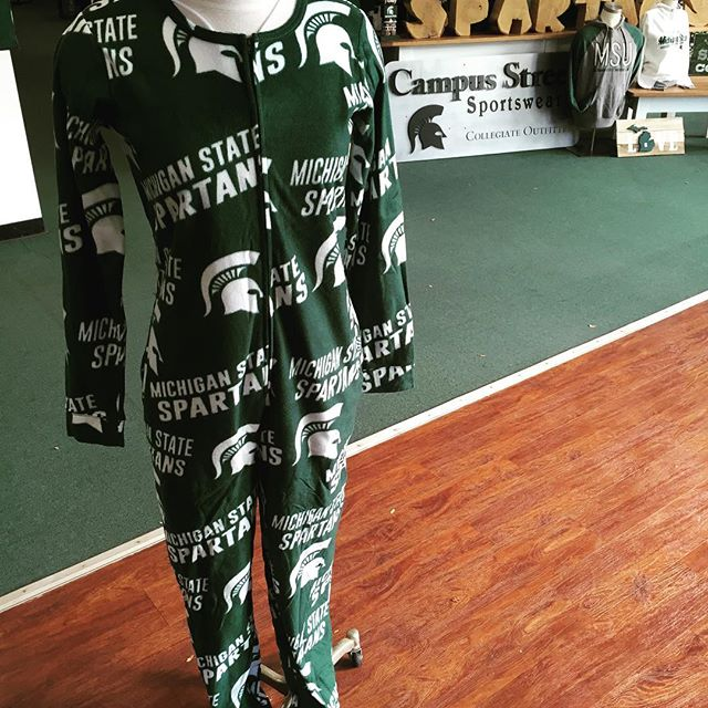 Adult Onsies!!!! #spartyon #msu #gogreengowhite #msuhomecoming #spartanswill #gogreen