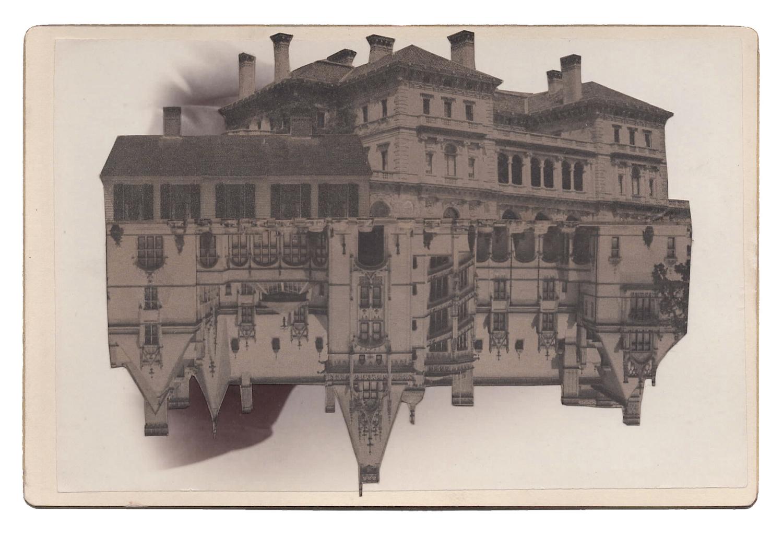 Cornelius Vanderbilt, 2016,Found Photographs &Collage, 4 x 6.5 inches