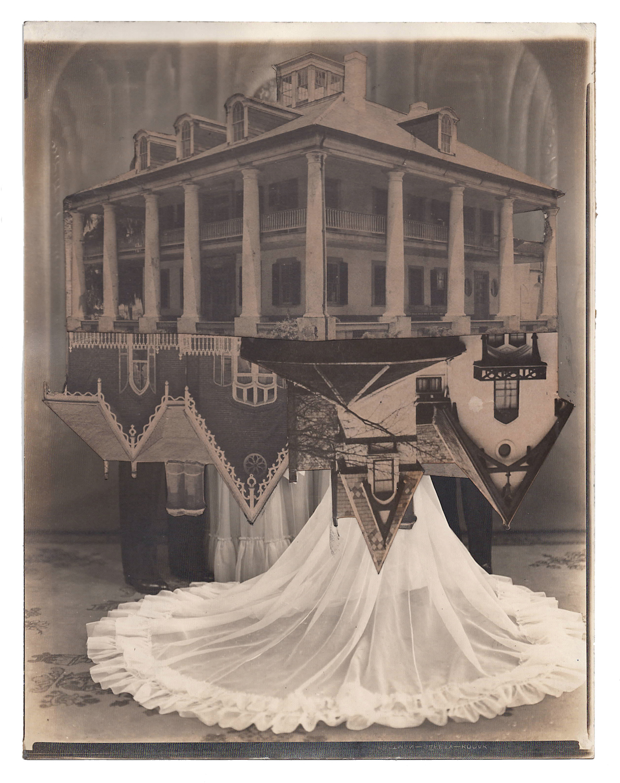 Wedding 10, 2016, Found Photographs & Collage, 10 x 8 inches