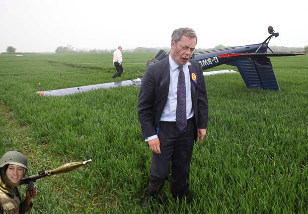 It's not all plane sailing for Nige as his upside down flying record ends in racist, hate-filled tears