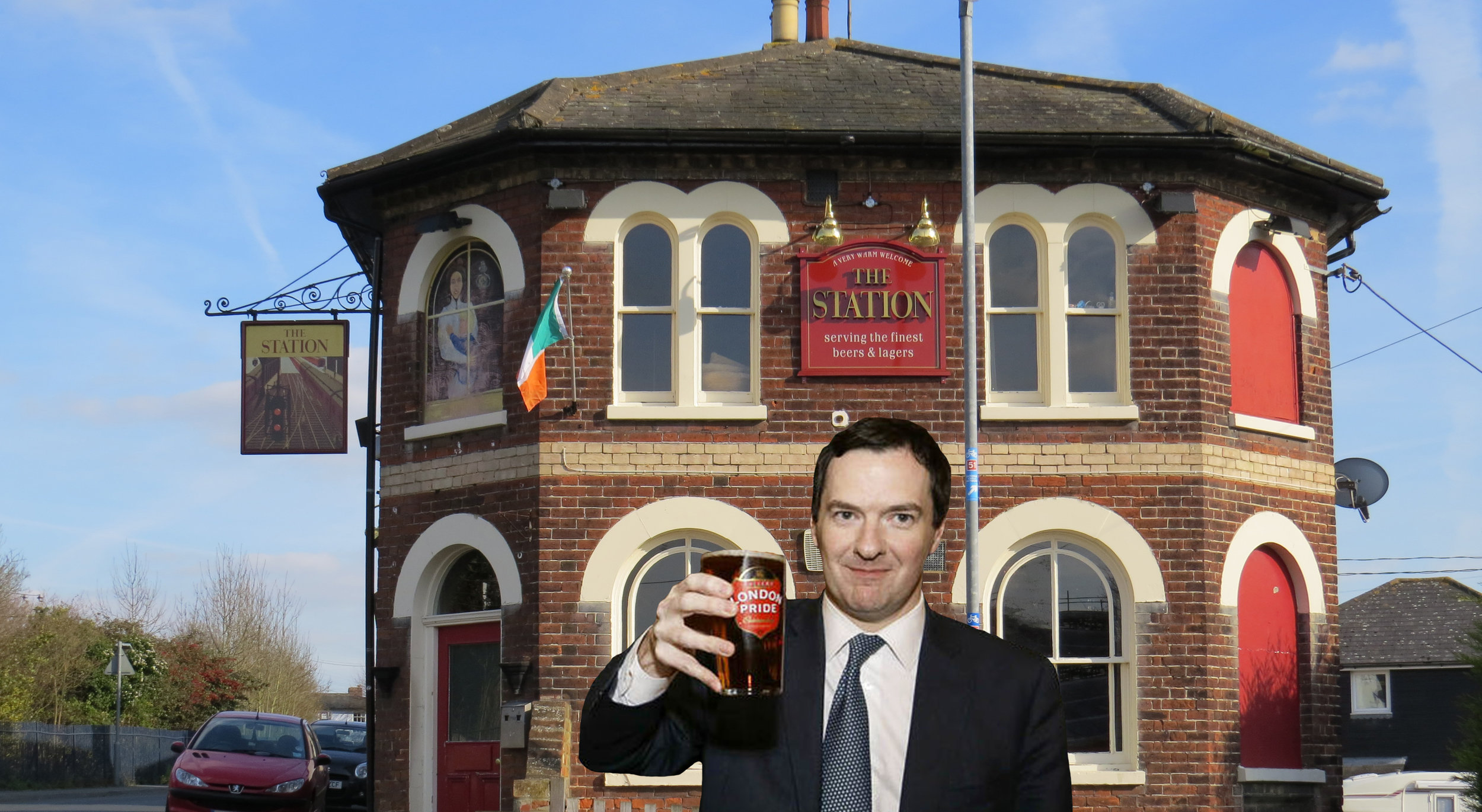 Man of the people Gideon Oliver Osborne does his bit for democracy