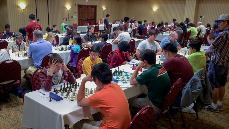 There were 24 Players in the Premier Section including young players such as Miami's Nikhil Kumar (2073), Gainesville's Cindy Jie (1950) and Tampa's Truman Hoang (2185) participating in the Orlando Autumn Open and National Chess Day tournament.