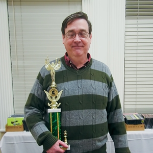 John Givler (1993) wins the Class A section trophy (U2000) with tiebreaks in a 3-way tie for 1st Place.