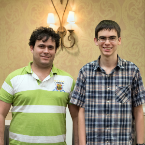 Premier Section winners GM Sandro Pozo Vera (2561) (L) & John Ludwig (2463) (R) tied for 1st Place, with John winning the tournament on tie-breaks.