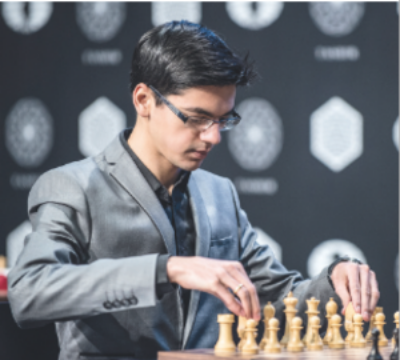 Anish Giri didn't win a single game - but he didn't lose any either! Photo by David Llada