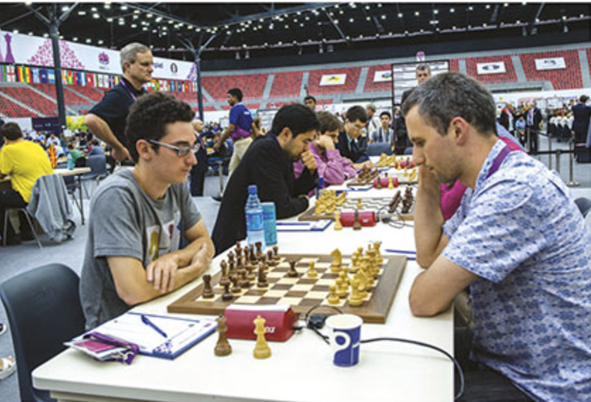 Fabiano Caruana scored an undefeated 7/10 on board one for the USA.