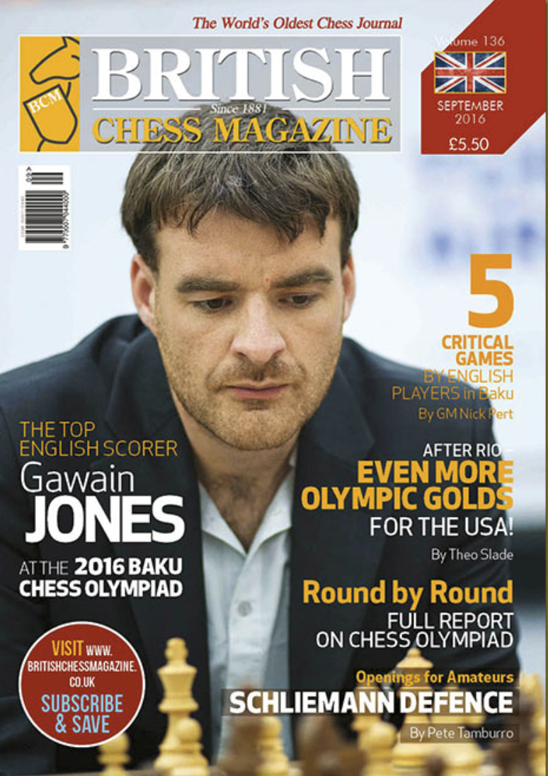 This article was published in the 2016 September issue of  Br  itish Chess Magazine (BCM)   which began in 1881 and is the world's oldest chess magazine.Theo Slade, a new Orlando resident from Cornwall, England, is their youngest ever staff writer, starting when he was only 12 years old! Theo has been writing regularly for BCM for three years and has agreed to share his articles with the CFCC community.