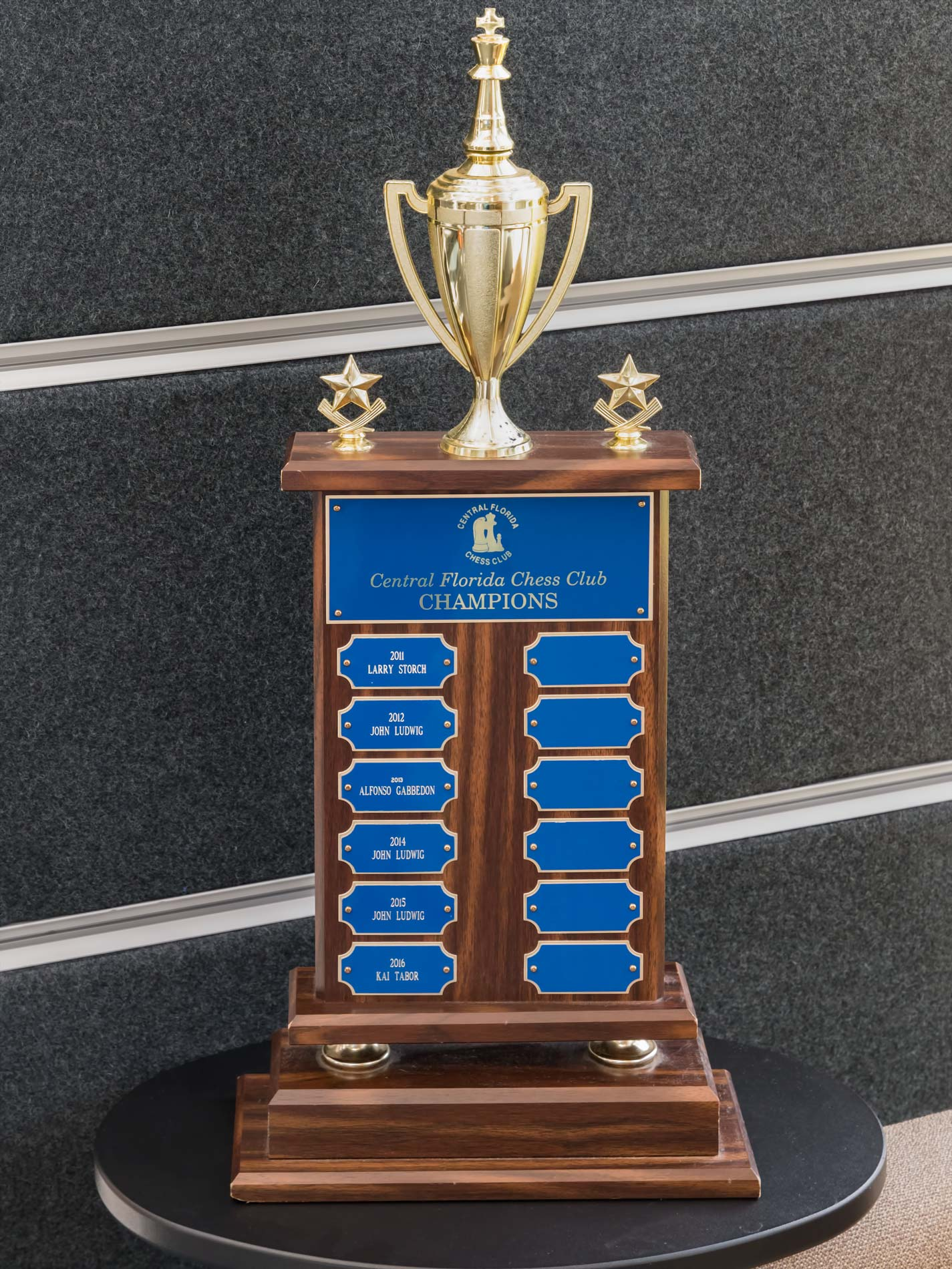 CFCC Club Championship Trophy designating the most recent club champions.