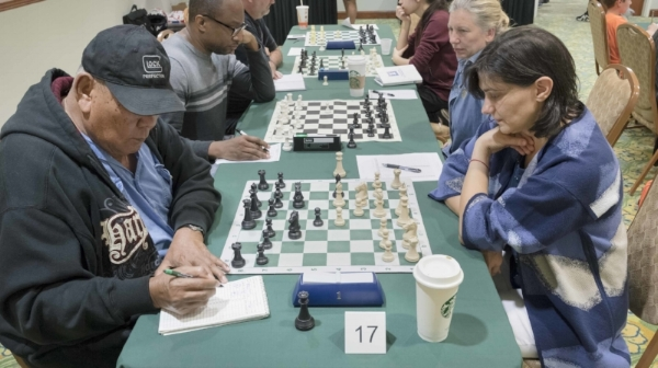 2017 USATS Team Tournament, WIM Jen Hansen (R) of the  Orlando Chess House