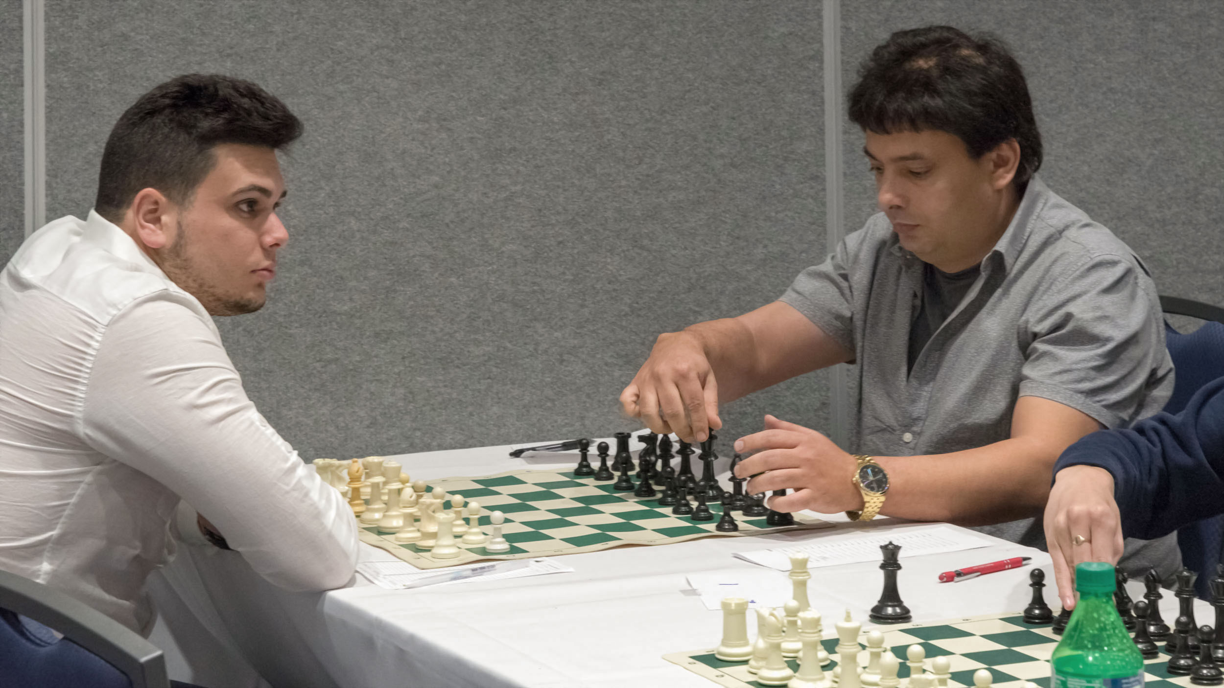Final Round, Board 1, GM Julio Bacerra (2580) (R) vs FM Jorge Leon Oquindo (2505) (L), CFCC 2019 Winter Open