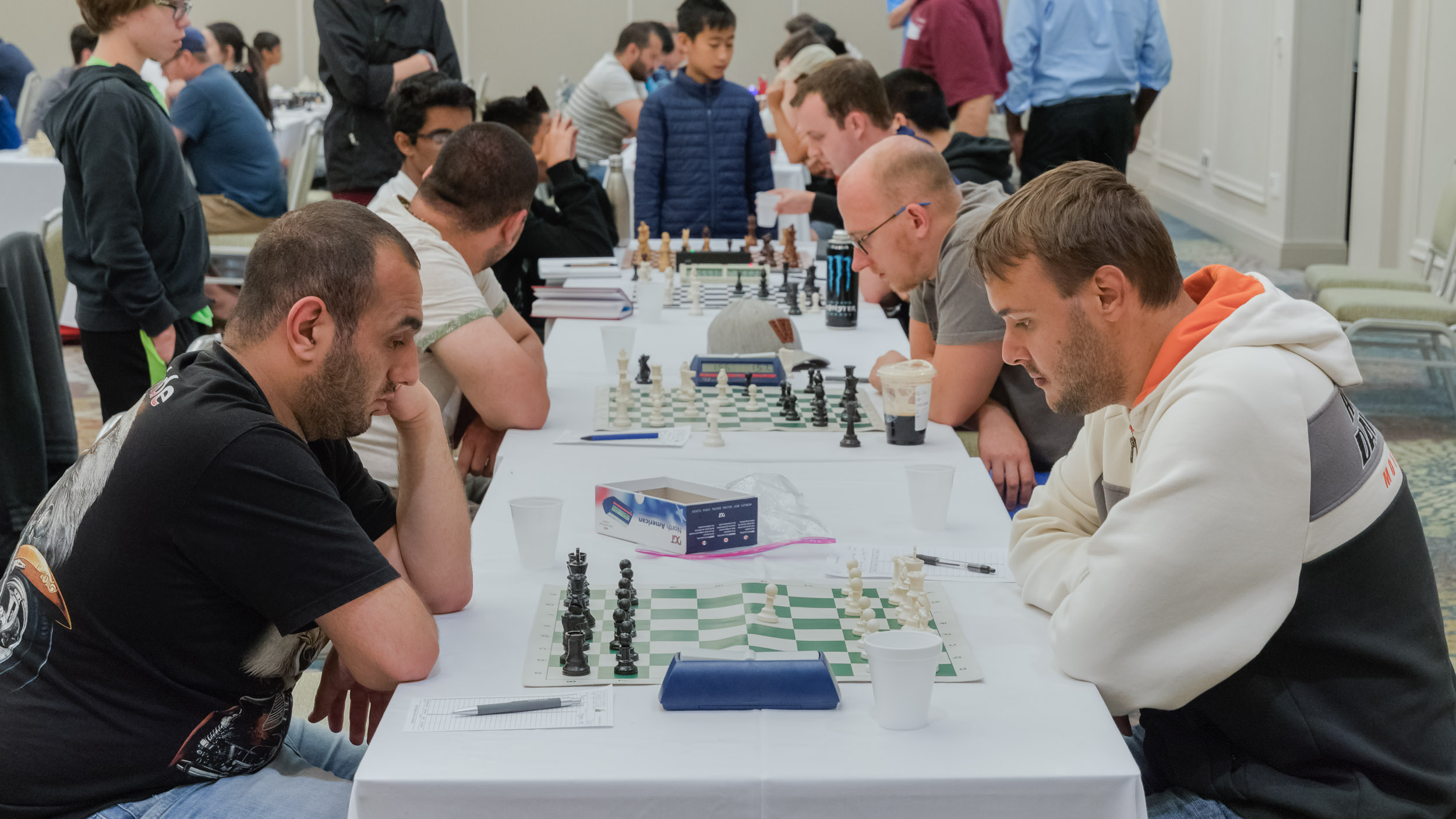 Final Round, Board 1, GM Karen Grigoryan (2726 (P24)) (L) vs NM Martin Hansen (2225) (R)