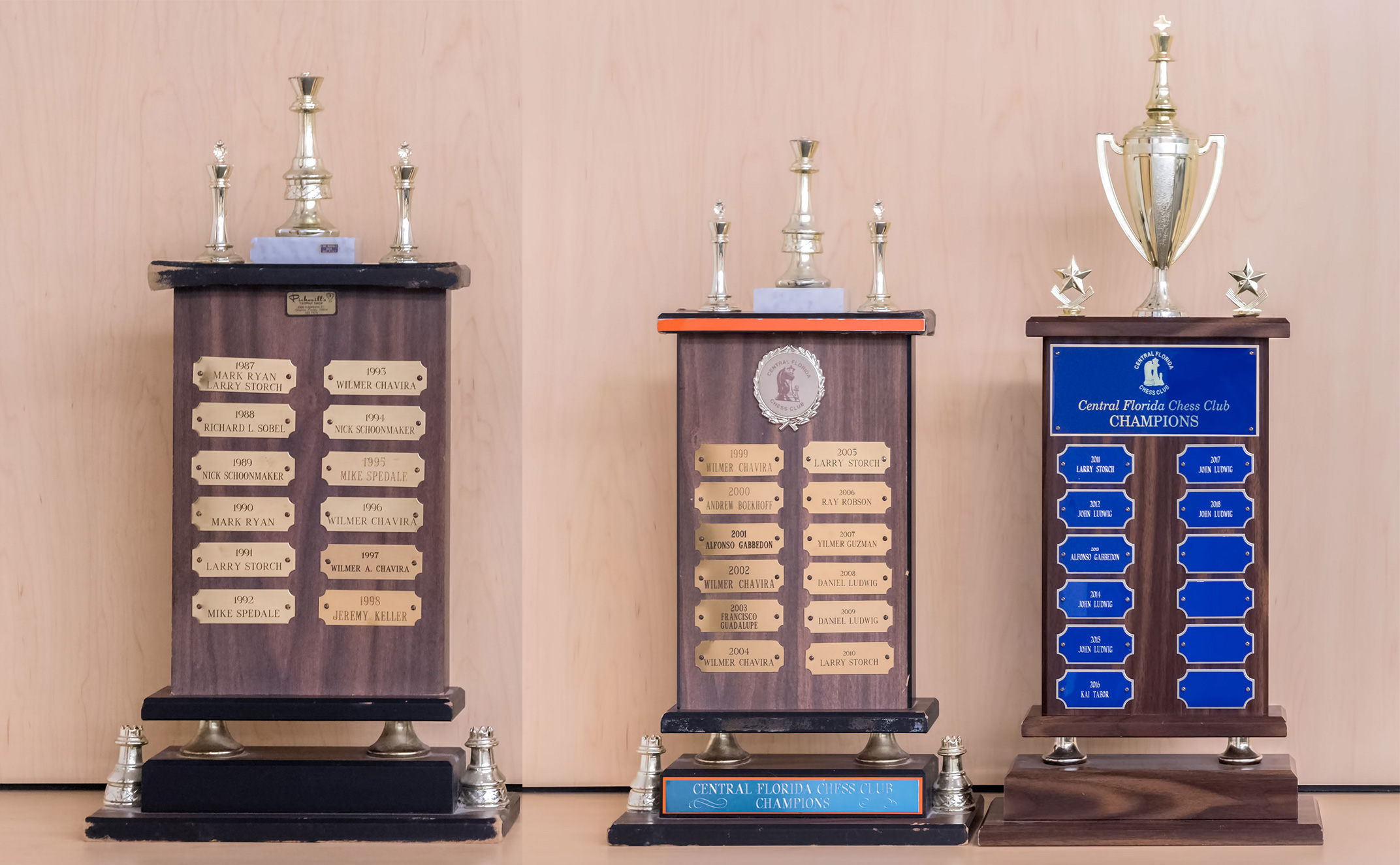 CFCC has hosted over 385 USCF competitive chess tournaments and produced 33 Club Champions since 1987