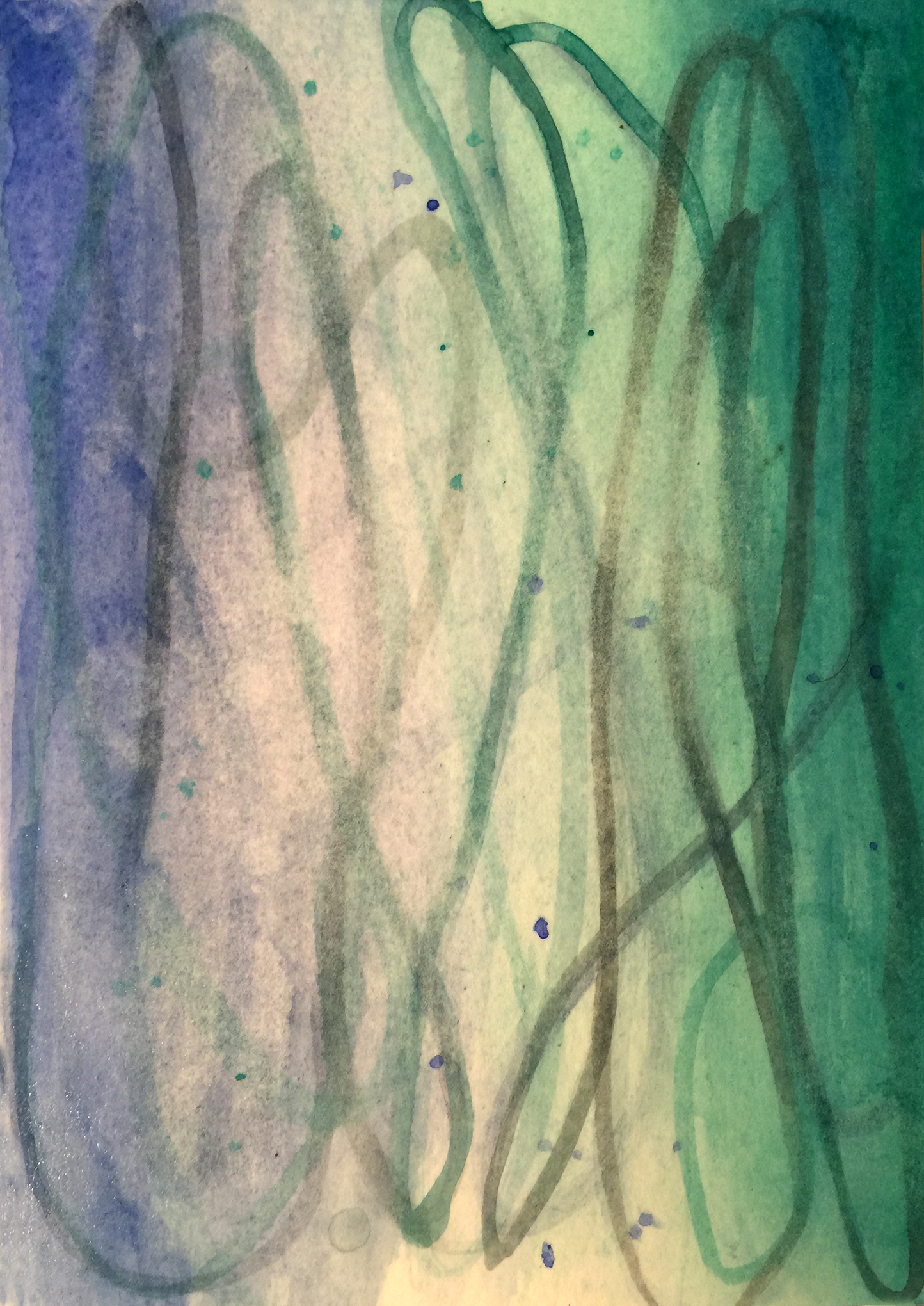 "Betsy Bauer     ""Acqua I"", 7 1/2"" x 5"", watercolor on paper"