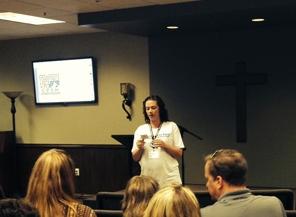 Buddy Ministry Lead Volunteer Raechel Gleason shared information about the program.