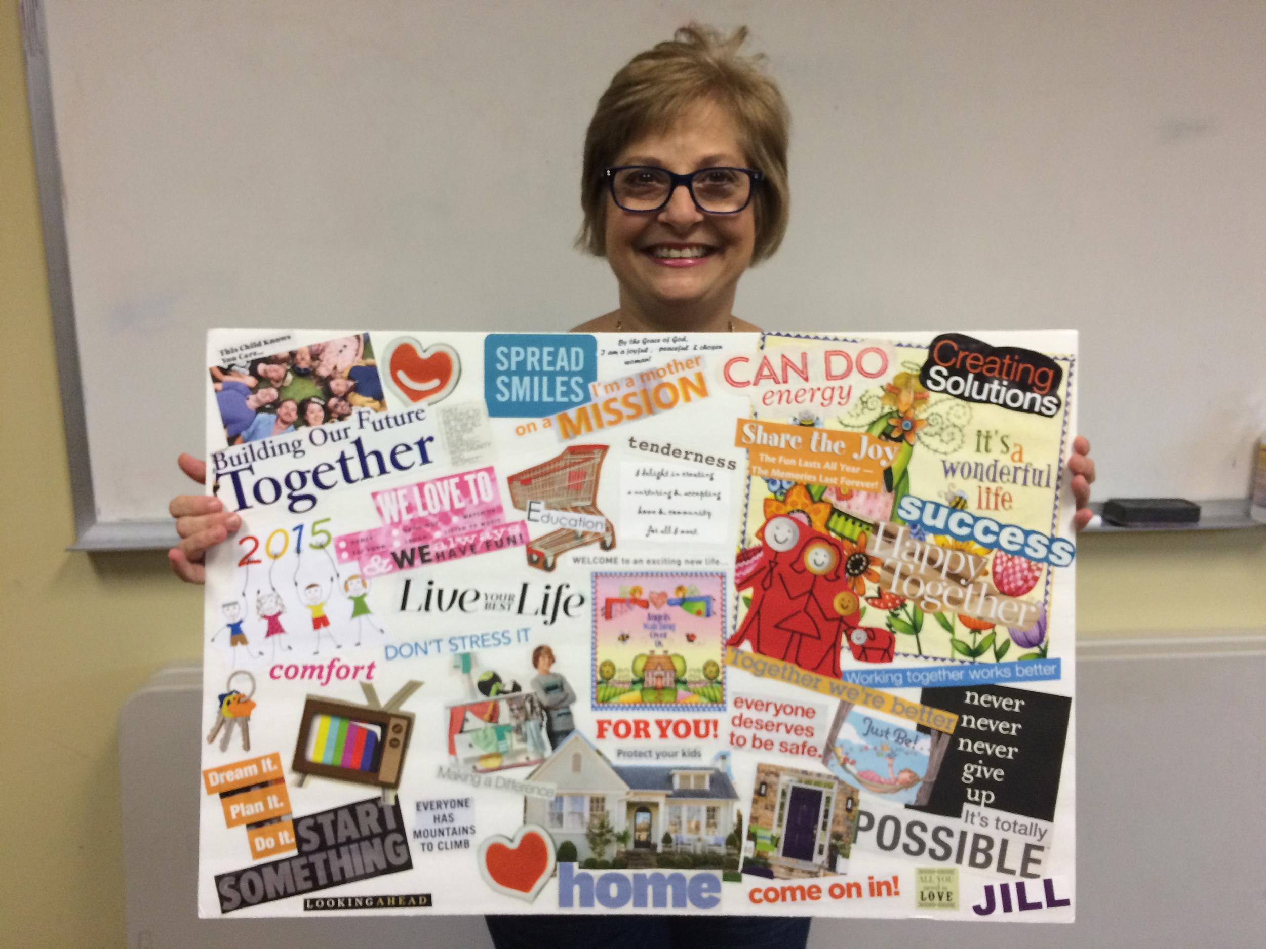 Jill Burt's Vision Board September 2015