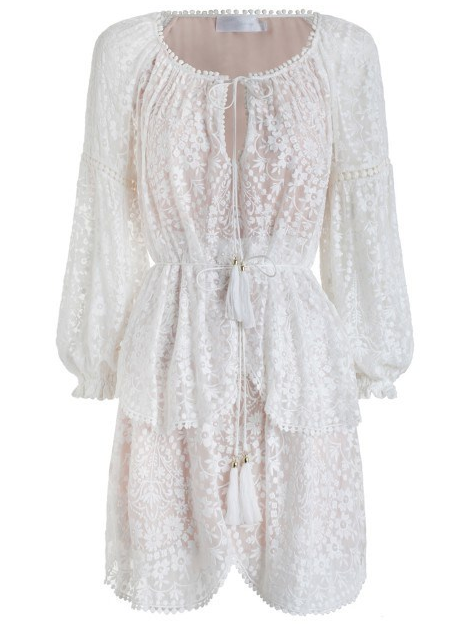 ZIMMERMANN GOSSAMER SCALLOP DRESS $850