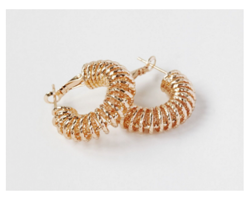 RELIQUIA SPIRAL HOOP EARRINGS $120