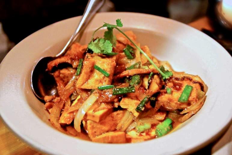 Hodo soy beanery organic tofu, pressed tofu, shiitake mushroom, sweet roasted chili sauce, lemongrass