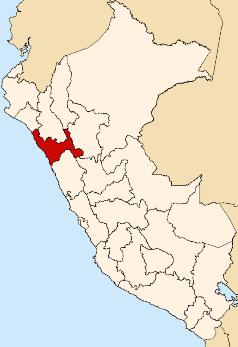 La Libertad is shaded in red