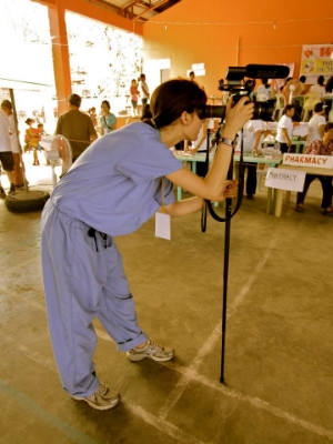 Filming in Occidental Mindora, Philippines at a medical mission for the Philippine Medical Society of Nor Cal